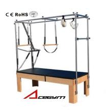 Mesa de Trapézio de Equipamentos Pilates com 3 Conjuntos de Molas
