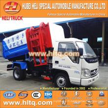 Forland 4M3 petit chariot à ordures hydrauliques 98hp pour exportation vers l'Afrique