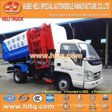 Forland 4M3 небольшой гидравлический грузовик для мусора 98 л.с. для экспорта в Африку