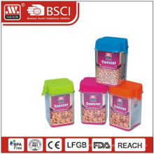Hot sale plastic canister with lid