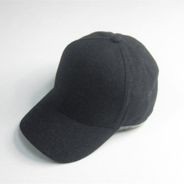 Thick Black Blank Felt Baseball Cap