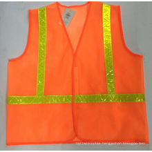 High Luster Safety Vest with Crystal Tape