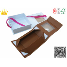 Folding Box with Ribbon/Foldable Box with Ribbon (MX052)
