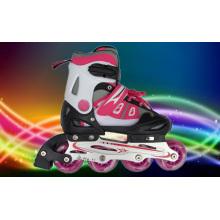 Red PU Wheels Inline Skate for Children