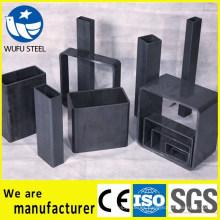 Fábrica de suministro cuadrado rectangular Q235B tubos de acero / tubos