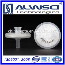 China fabricante ptfe filter 0.22um ptfe syringe filter