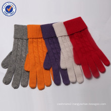 2015 New Design wool and cashmere knitting glove MRST04 knitting glove wholesale blended glove