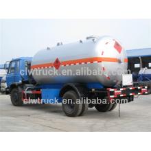 Melhor preço Dongfeng 15m3 lpg caminhão de transporte, 4x2 lpg camiões para venda