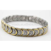 Brillante pulsera magnética de chapado en oro 18K para mujer