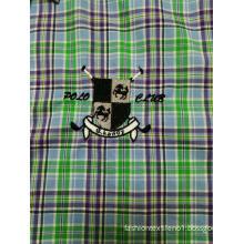 100%COTTON men's check long sleeve business shirt