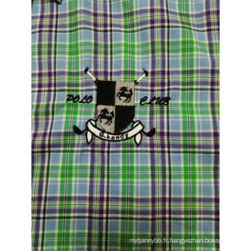 Chemise à manches longues à carreaux pour hommes, 100% COTON