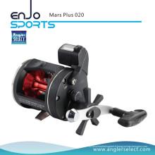 Angler Select Mars Plus Corps en plastique 2 + 1 Roulement droit Poignée de mer Trolling Reel Fishing Tackle (Mars Plus 020)