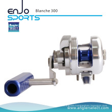 Angler Select Blanche Super Smooth Aluminium / 8+1bb Sea Fishing Jigging Reel Fishing Reel (Blanche 300)