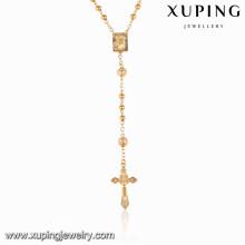 43190 Xuping jóias religiosas banhado a ouro rosário colares para as mulheres