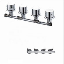 Factory wholesale 4 Function Conjoined/siamese tap mixer shower panel faucets
