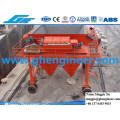 Port-Maschine Staub-Kollektor Gummireifen Mobile Hopper