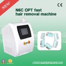 N6c de alta frecuencia IPL depilación máquinas rejuvenecimiento de la piel 2000W