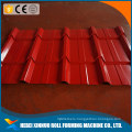 Color steel tile roof panel floor board making line glazed tile roll froming machine