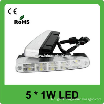 High Quality Aluminum 5PCS 1W high power car LED DRL light