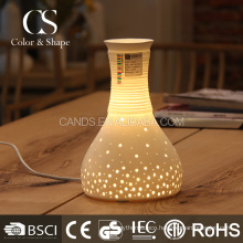 China wholesale ceramic vase shape decorative table lights