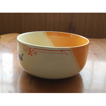5.5 inch color glazed porcelain noodle bowl