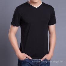 China Fabricante Homens Atacado Camisa Preta de T Moda T Shirt Design