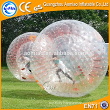 Las cuerdas rojas del tamaño grande embroma la bola inflable del hámster / la bola del zorb para el bowling