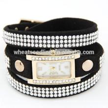 Reloj de señora excelente de la venda del cuero 2015 de las mujeres