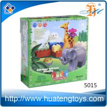Nuevo juguete animal de los bloques huecos de los niños DIY de la educación 17PCS