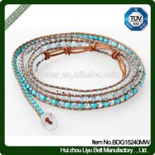 Moda Girl Mixed Crystone Skinny Beaded Bracelet / Mulher Magro