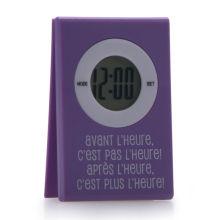 Digitale LCD clip colorato carta orologio da tavolo con magnete