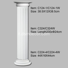 Colonne scanalate PU diametro 24 cm