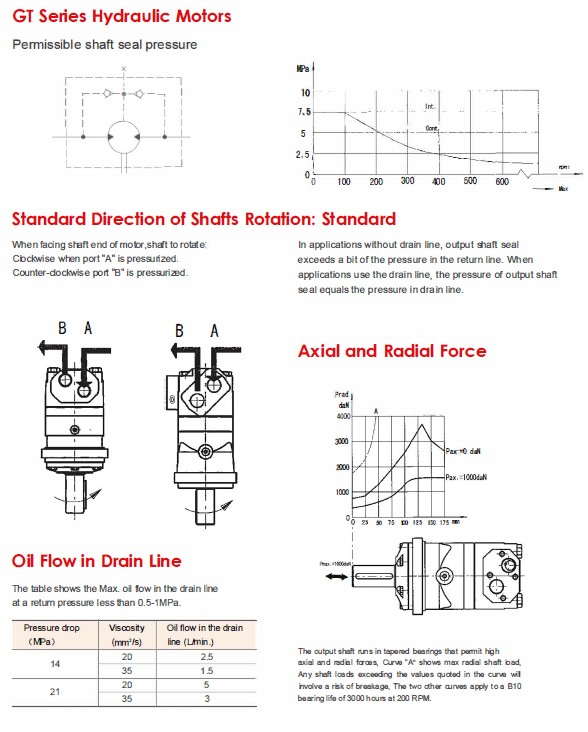 GT Series Hydraulic Motors