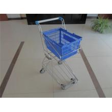 Stangen-Art Plastikeinkaufskorb-Laufkatze für Verkauf (YRD-J4)