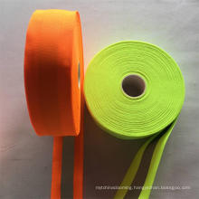 custom 5cm width high light fluorescent orange reflective webbing tape