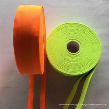 Ruban réfléchissant orange fluorescent haute lumière personnalisé 5cm