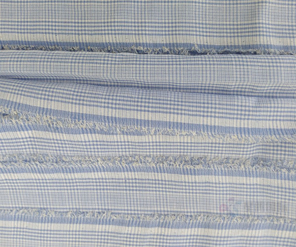 Plain Striped Soft 100% Cotton Fabric Textile3