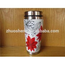 novo volume de projeto personalizado comprar da caneca de cerâmica de china inox, caneca em mudança da cor