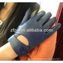 Wholesale Cheap blue Leather Winter Gloves For Ladies