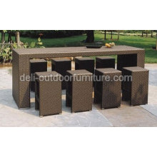 Outdoor PE Wicker Modern Rattan Bar Furniture Sets