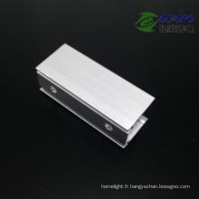 Clip fixe de montage en aluminium pour la fixation de la bande au néon LED
