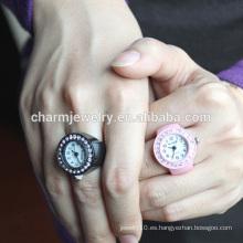Venta al por mayor 2016 último anillo de moda reloj colorido anillo de diseño para las mujeres JZB014