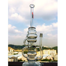 Reciclador e Honeycomb Glass Water Pipe
