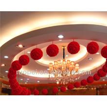 Boule de fleur de soie artificielle douce et de haute qualité pour la décoration de fête