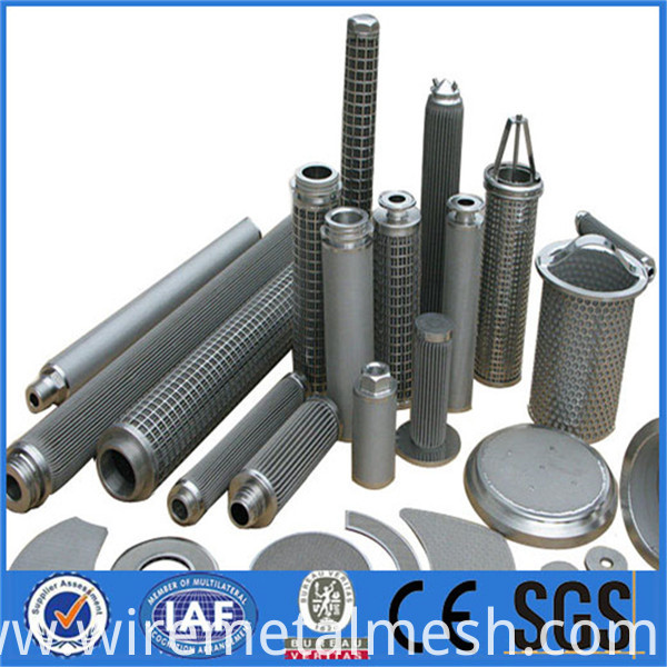 High porosity stainless steel metal filter element