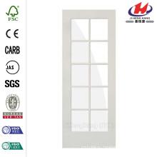 30 дюймов x 80 дюймов 10-Lite Solid Core MDF Грунтованная правая / правая одностворчатая межкомнатная дверь
