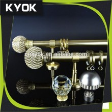 China wholesale fashion accessories factories luxury curtain rod, metal home decor diamond curtain rod finial