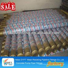 Pièces de rechange en béton DN125 tuyau de pompe à béton avec bride en acier vente chaude en Iran