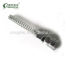 Swiveling spring guard quick coupler 5*8socket