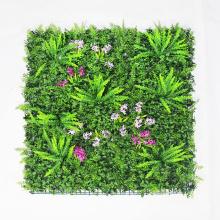 Seto decorativo de la instalación de la pared del verde artificial de DIY con follaje